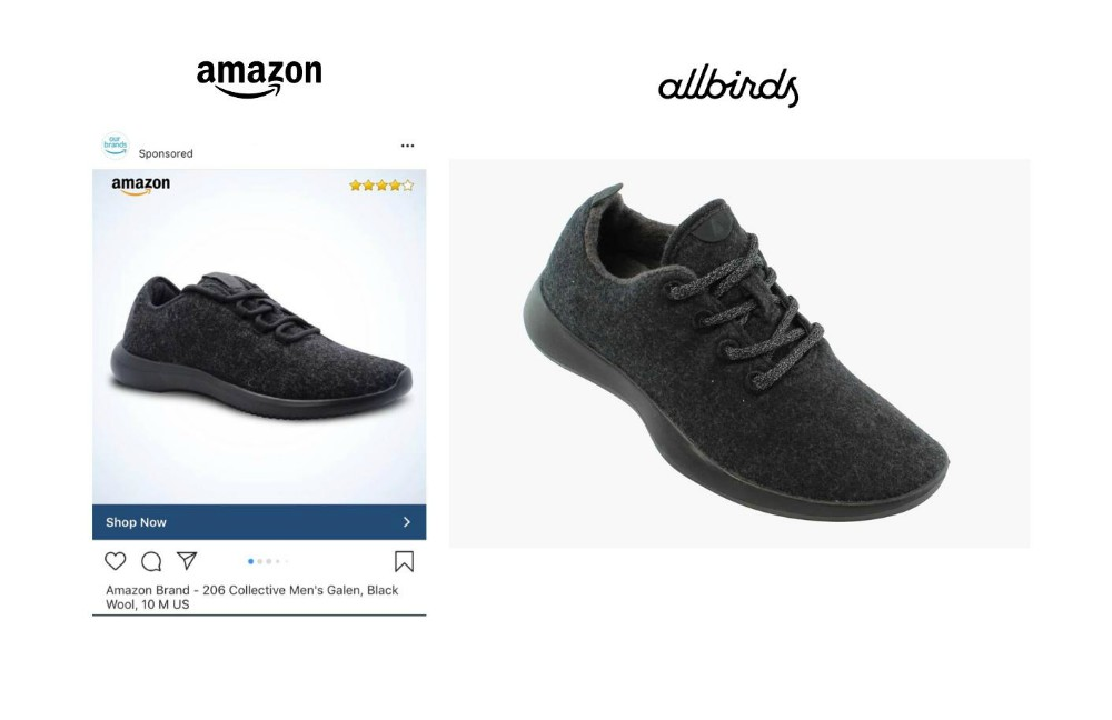 Amazon has cloned AllBirds' popular Wool Runner style.