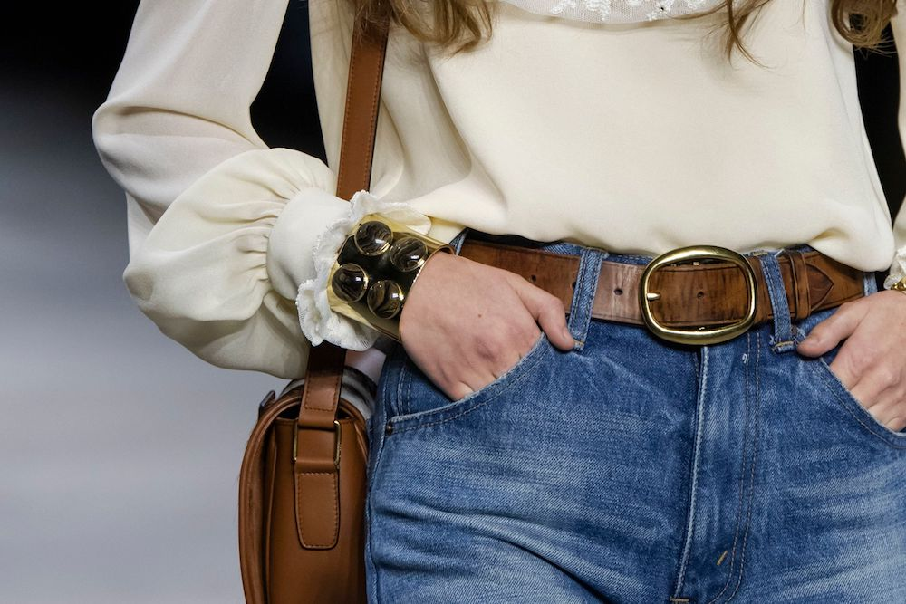 Celine denim. During a time when France continues to see social and economic inequality protests and a global recession looms, The New York Times fashion critic Vanessa Friedman questions why one buzzed-about designer at Paris Fashion Week is banking on designer denim.