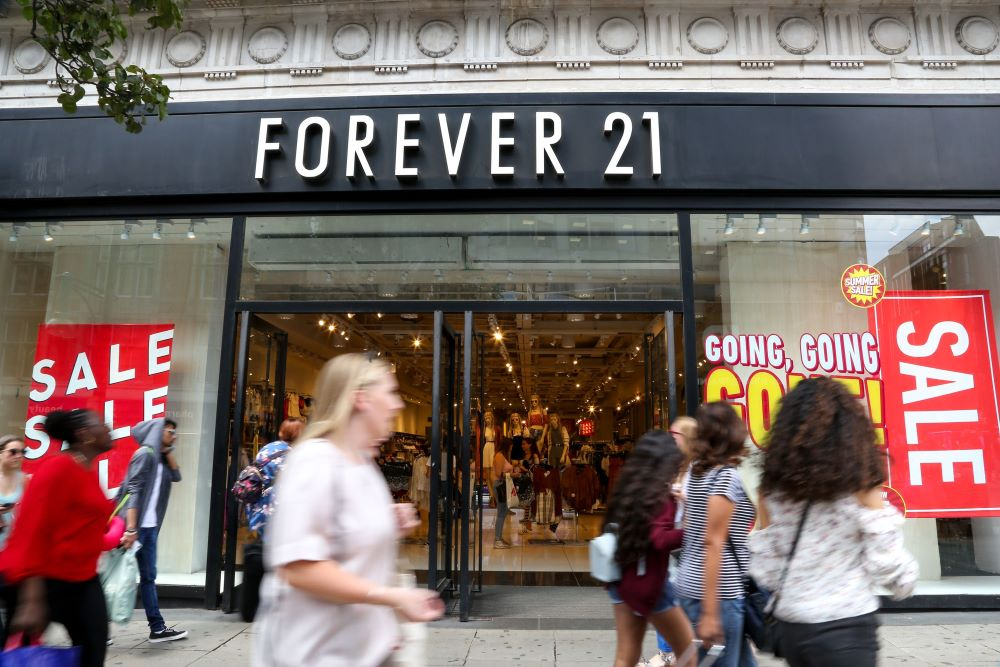 Forever 21 files for bankruptcy court protection on Sunday, Sept. 29
