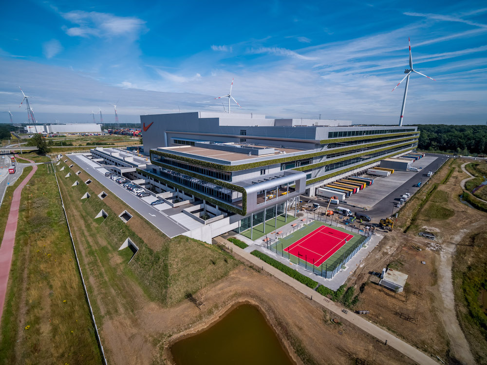 Nike's belgium distribution center that runs entirely on 100 percent renewable energy