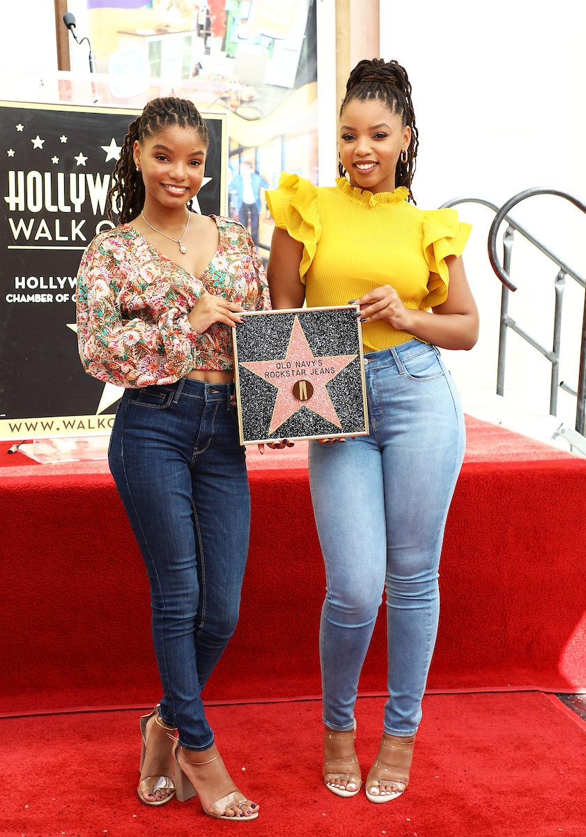 Old Navy Rockstar denim jeans featured on Hollywood Walk of Fame