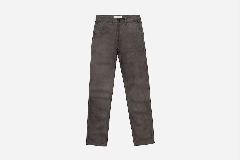 """Denim brand 3sixteen teamed with Alpha Industries to launch a """"Made in USA"""" capsule collection created with natural dyes."""