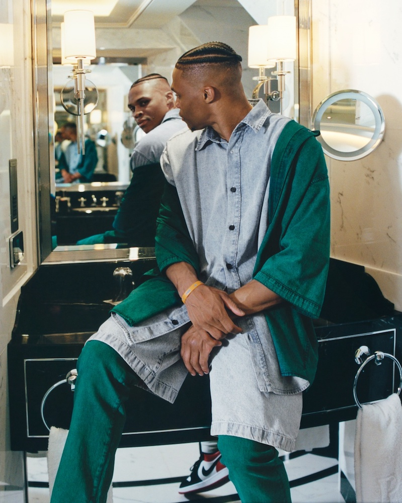 Acne Studios teams with NBA player Russell Westbrook on a capsule collection representative of the athlete's style.