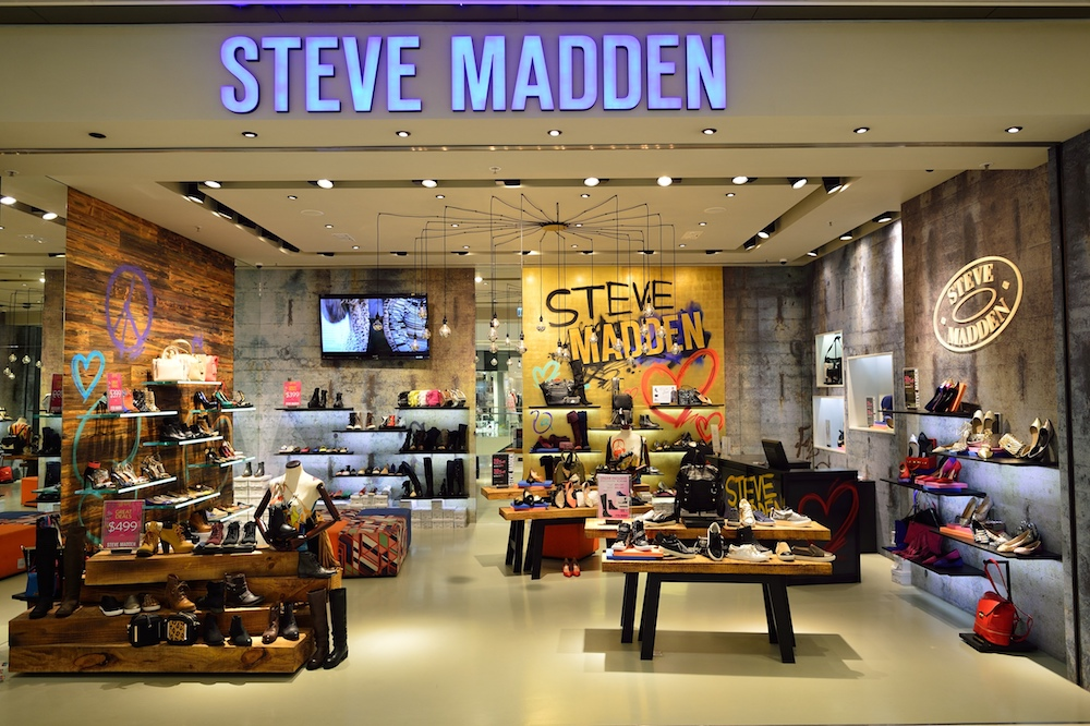 Steve Madden stock jumped 14 percent when the footwear brand released its latest sales figures and beat Wall Street expectations.
