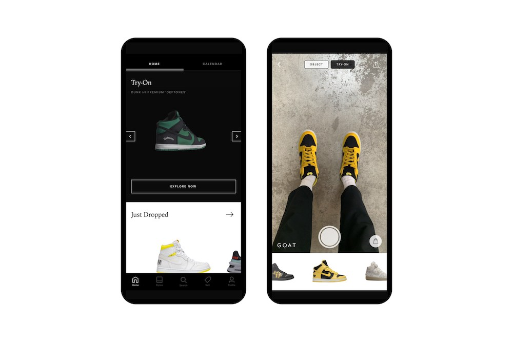 Goat AR app allows consumer to try on rare and exclusive sneakers