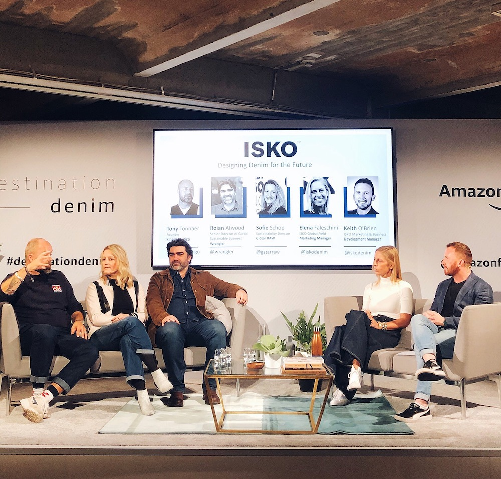 Isko hosted a panel at Amazon Destination Denim that highlighted its recycled fiber technology, R-TWO.