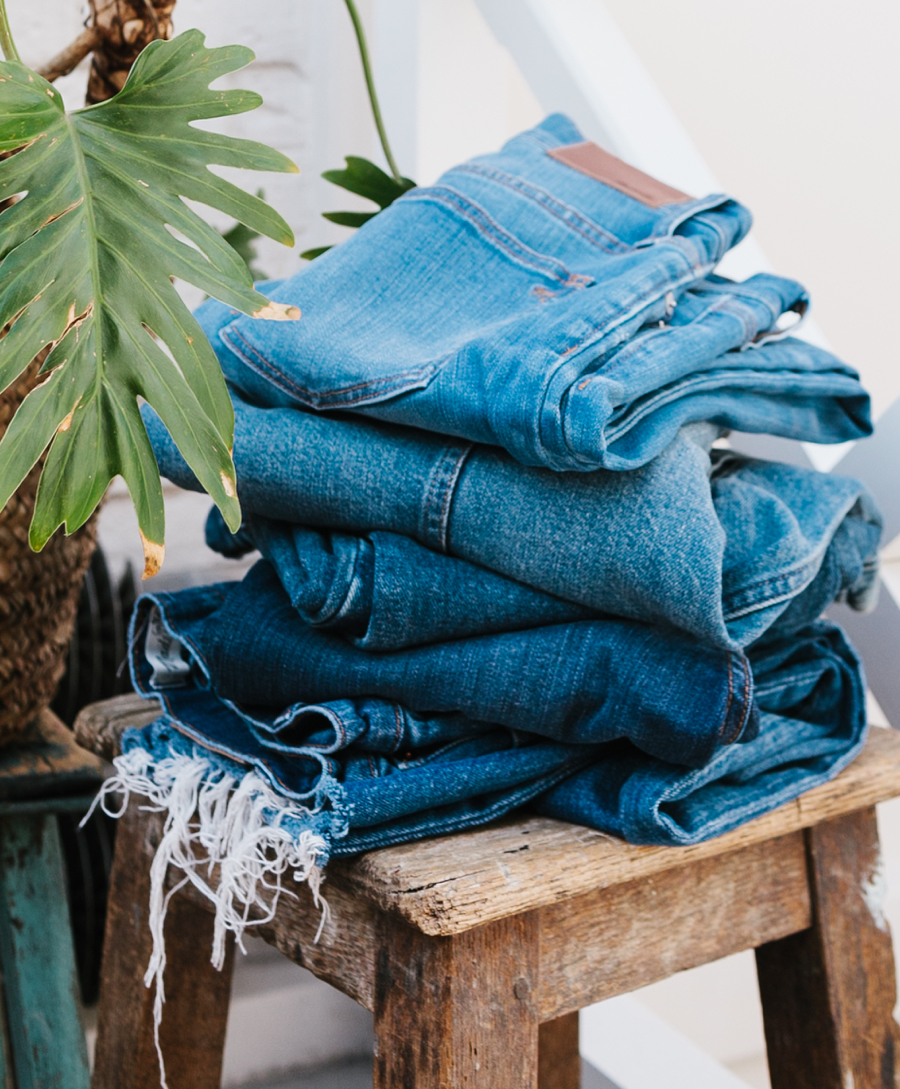 The Madewell Archive champions circularity by re-selling used denim from ThredUp's inventory.