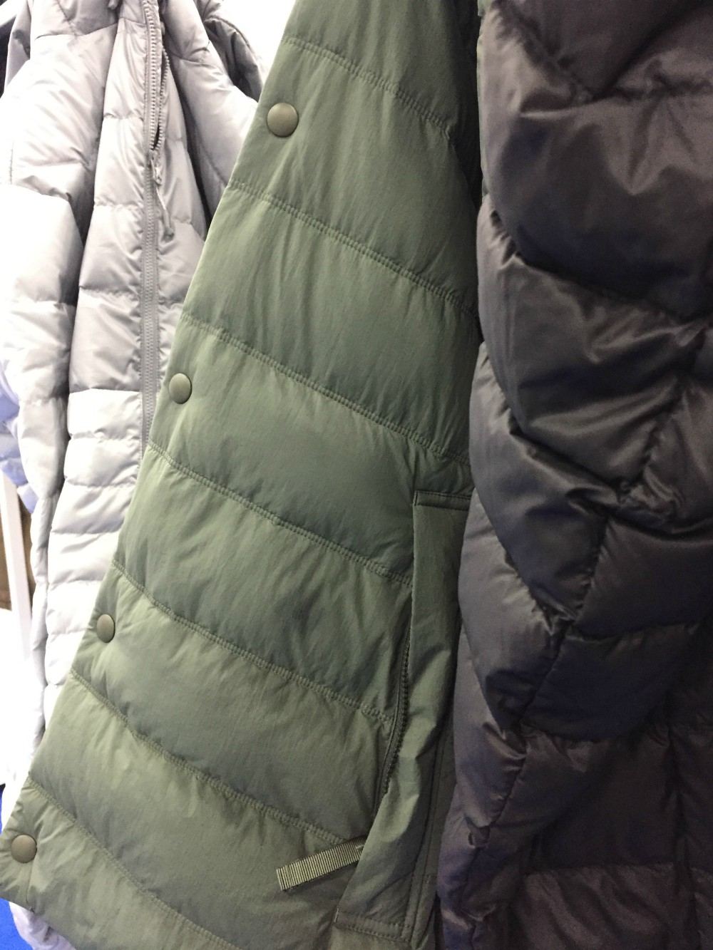 ReDown recycled down jackets. The Functional Fabric Fair brought together key players in the materials space, as well as newcomers looking to shake up the industry.