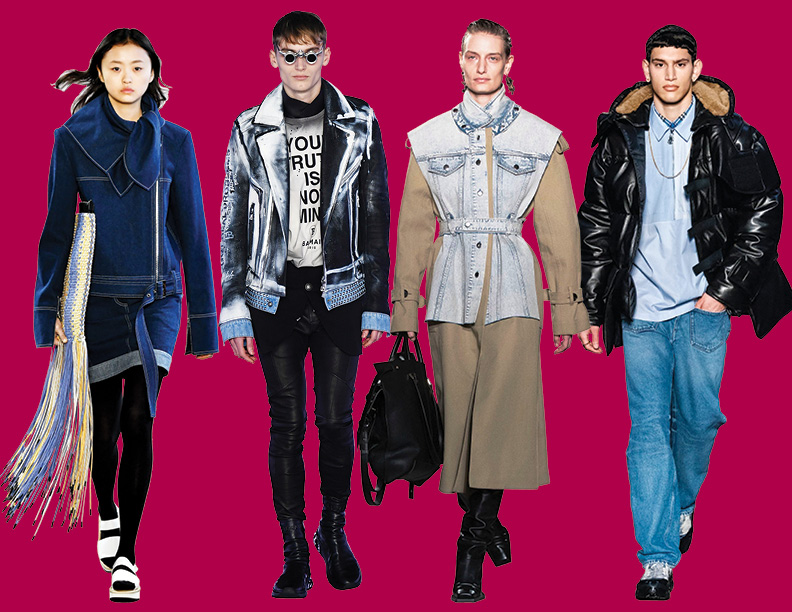 From embellishments to bursts of color, here's a look at the top 10 denim runway trends to know for fall.