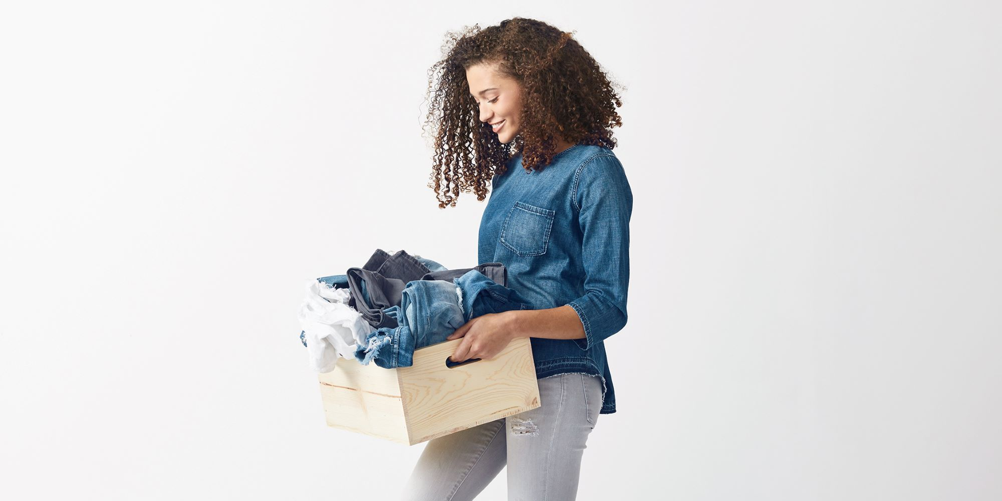Consumers can divert used and unwanted apparel, denim and textiles from the landfill by recycling them in the Blue Jeans Go Green campaign.