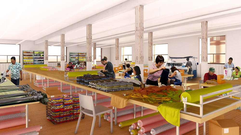 The NYCEDC released designs for the Garment Manufacturing Hub of the new Made in NY Campus at Bush Terminal in Sunset Park, Brooklyn.
