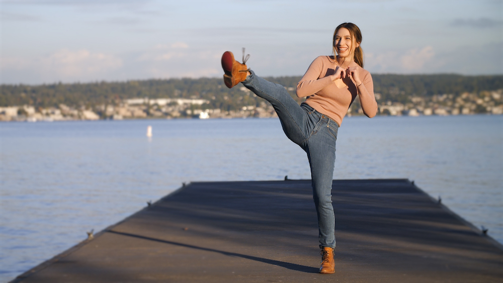 Radian Jeans, which launched on Kickstarter in 2018, makes women's jeans with deep pockets and high performance qualities.