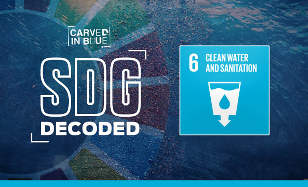 SDG 6 Carved in Blue