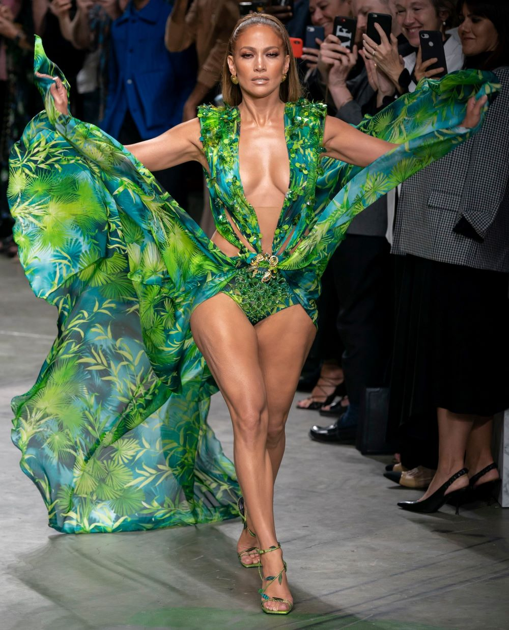 Versace sued Fashion Nova for copyright infringement, citing numerous lookalike products including Jennifer Lopez's infamous green dress.
