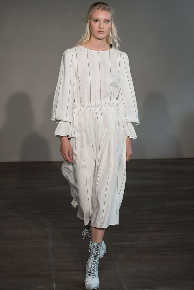 Modest dress by Morten Ussing.