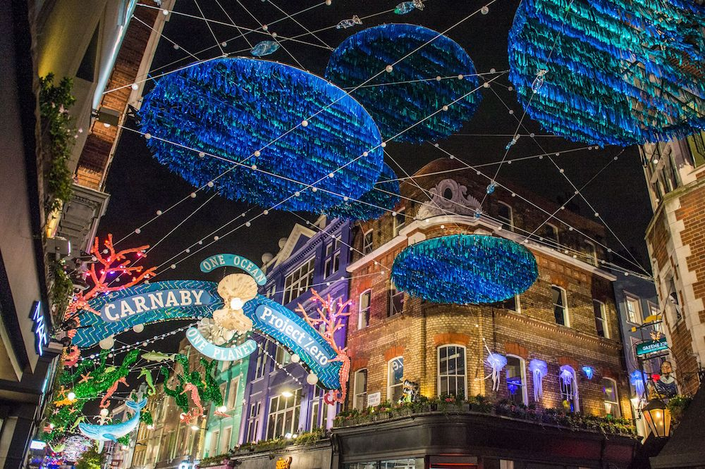 Carnaby Street teamed with ocean conservation group Project Zero for a holiday installation that highlights ocean pollution and protection.