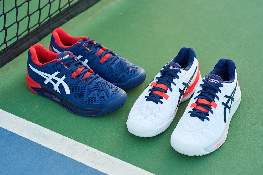 Asics Gel-Resolution 8 was designed for modern baseline tennis player, featuring Dynawall and Dynawrap stability technology.