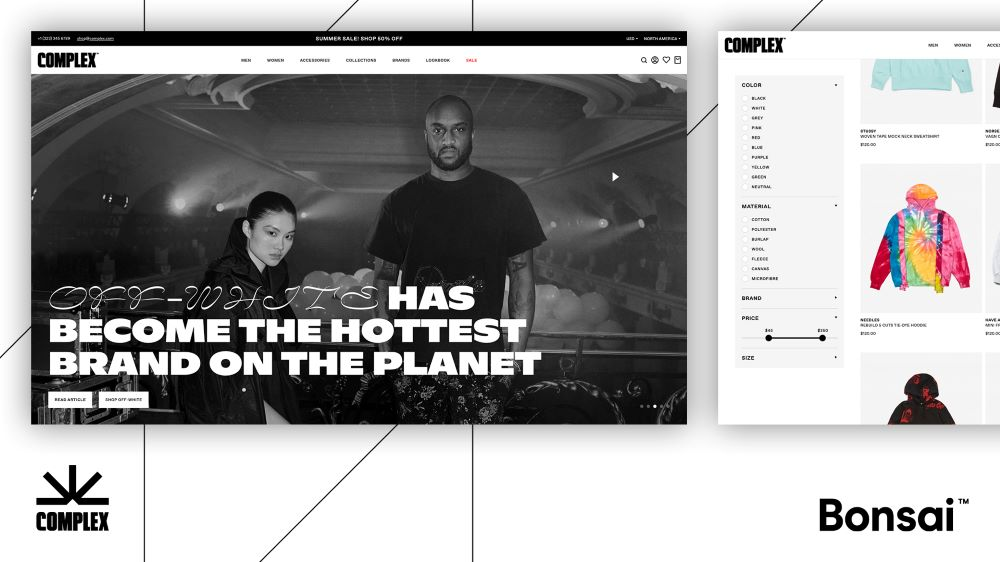 Complex is the latest youth-oriented brand to give culture-conscious consumers a seamless new way to shop. Complex Networks uses Bonsai's native checkout tech so that consumers can buy streetwear, art and fashion without exiting Complex Shop.