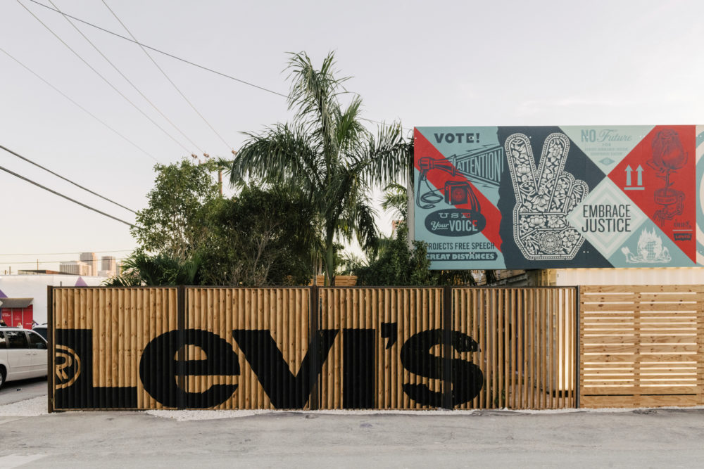 At Levi's Haus Miami Art Basel popup, visitors can customize denim from the Premium Red Tab, Authorized Vintage and Made & Crafted lines.