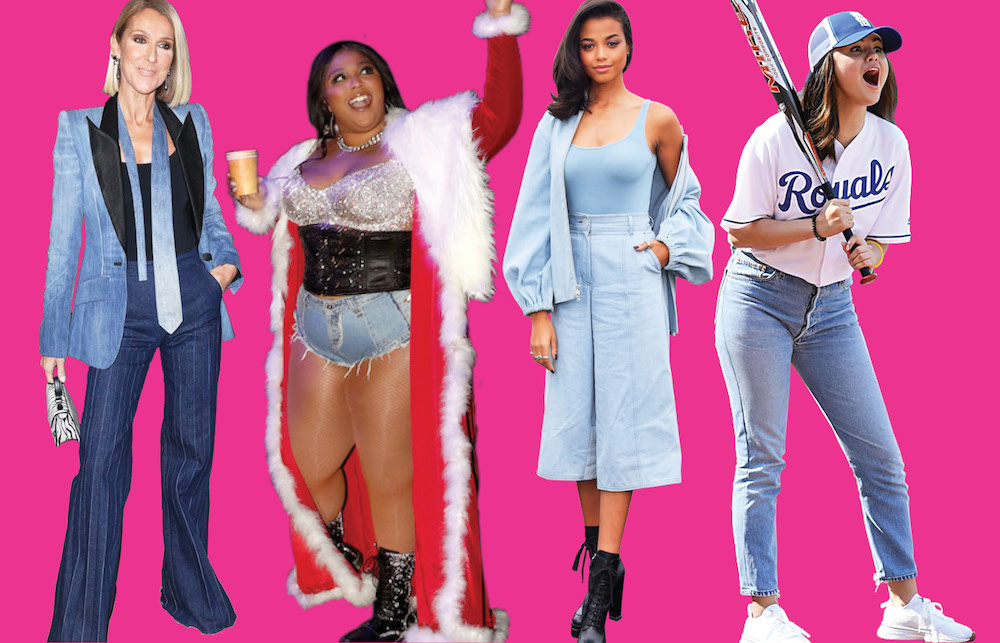 From Mom jeans to denim gowns, check out how celebrities wore denim in 2019.