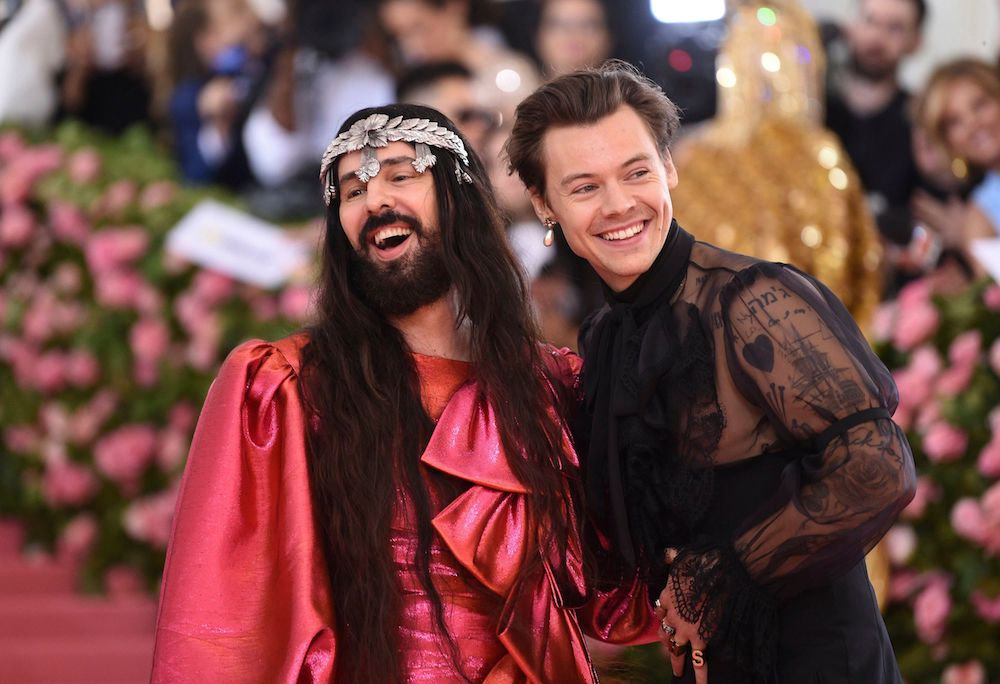 Alessandro Michele and Harry Styles at the Met Gala.