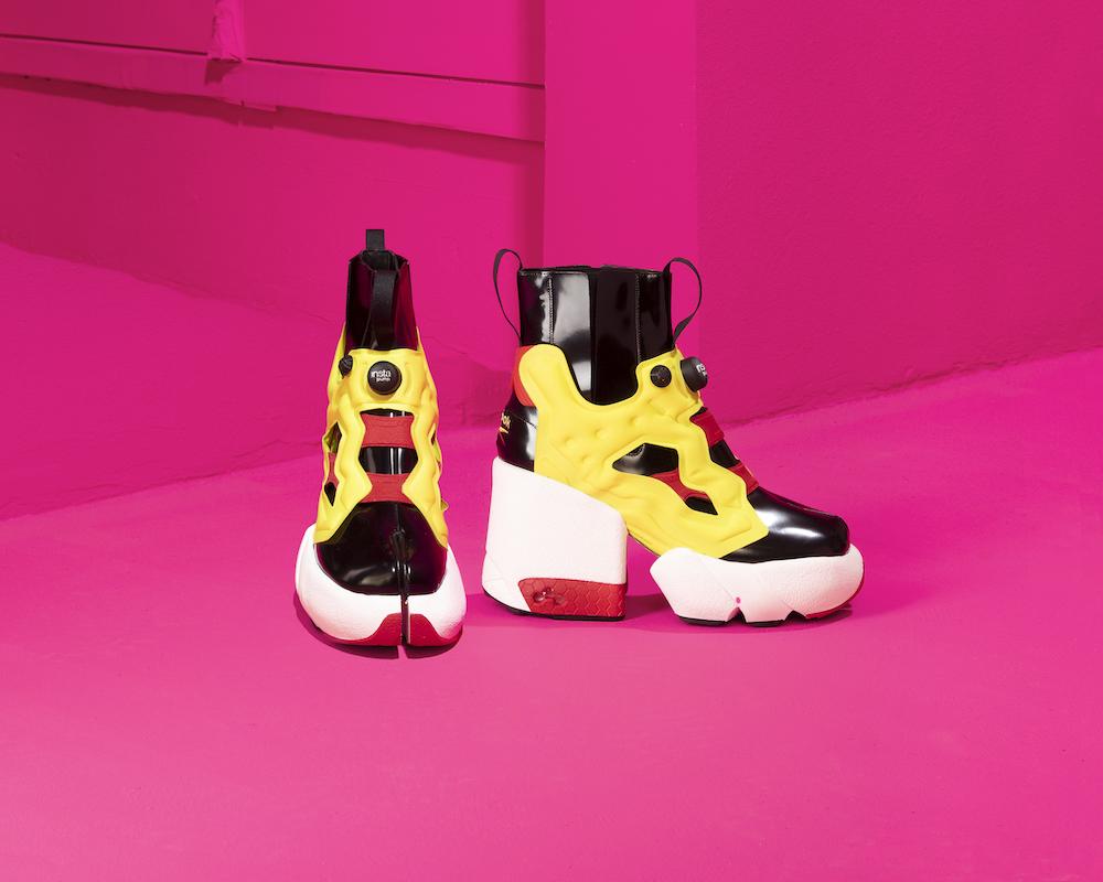 The new high-fashion sneaker is a hybridization of both Reebok's Instapump fury and Maison Margiela's signature split-toe Tabi footwear.