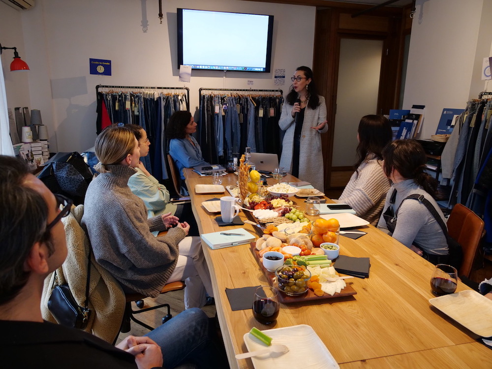 Speakers from Lenzing and Artistic Milliners discuss compostable fabrics at the mill's Soho MasterClass Series.