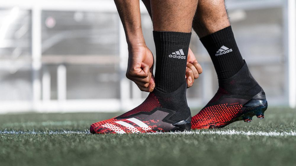 Adidas Demonskin soccer cleats and Codechaos golf footwear, launched this month, feature technical innovation in their upper components.