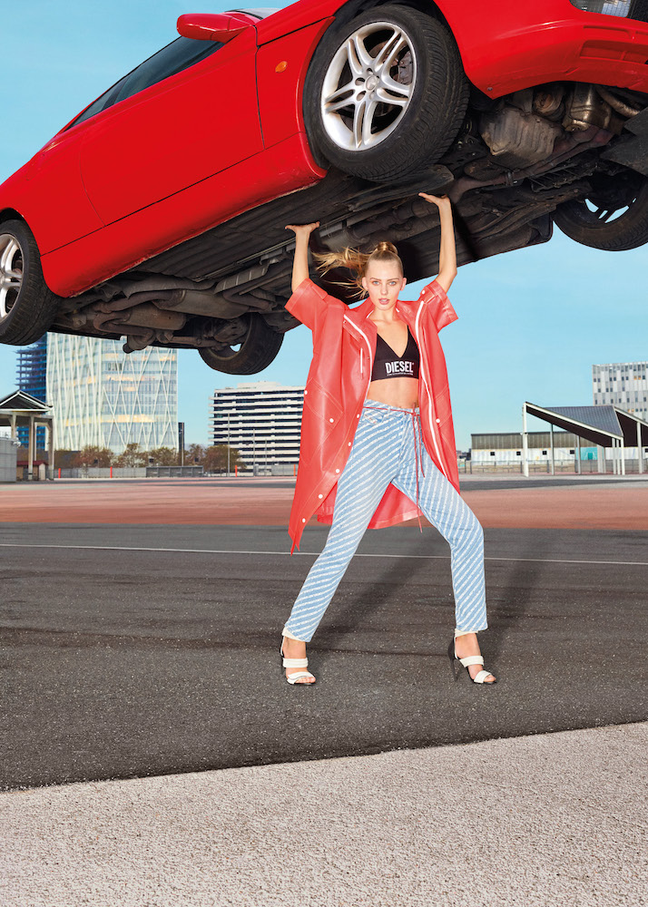 """Diesel reintroduced its """"For Successful Living"""" Tagline for its Spring/Summer 2020 campaign featuring superheroes in denim."""