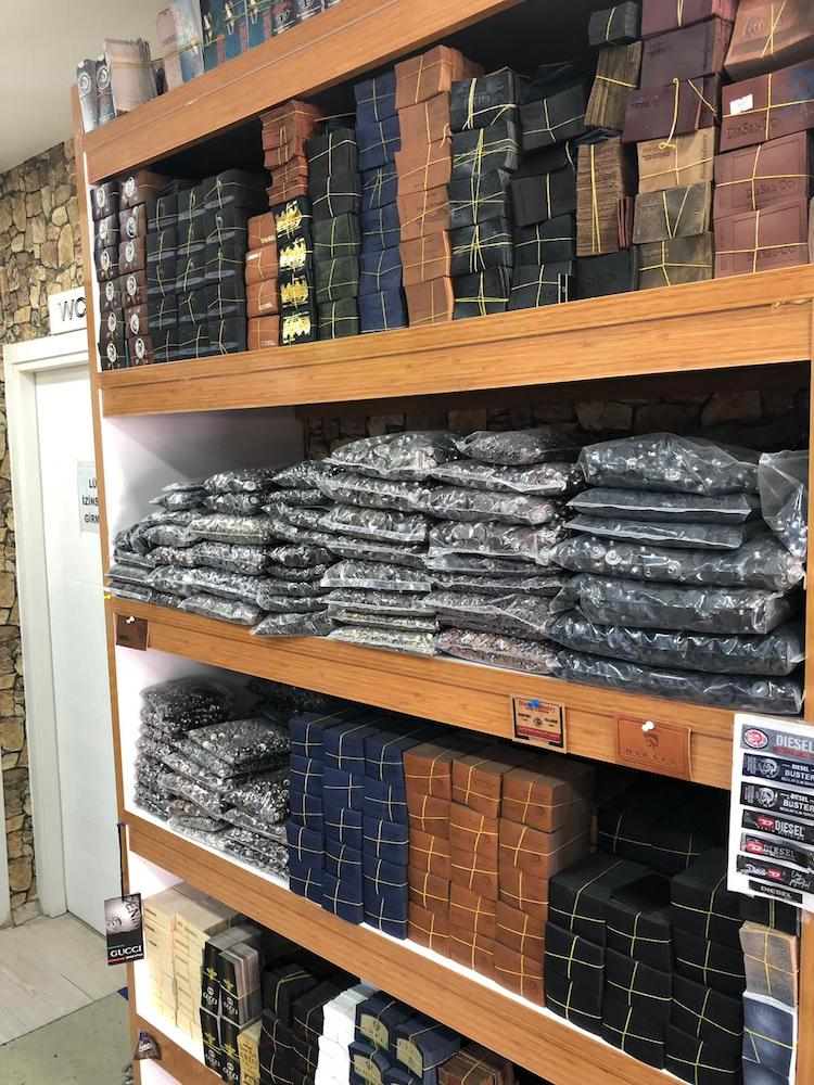 Diesel seized tens of thousands of fake items in 2019, including counterfeit jeans, hoodies and accessories from countries around the world.