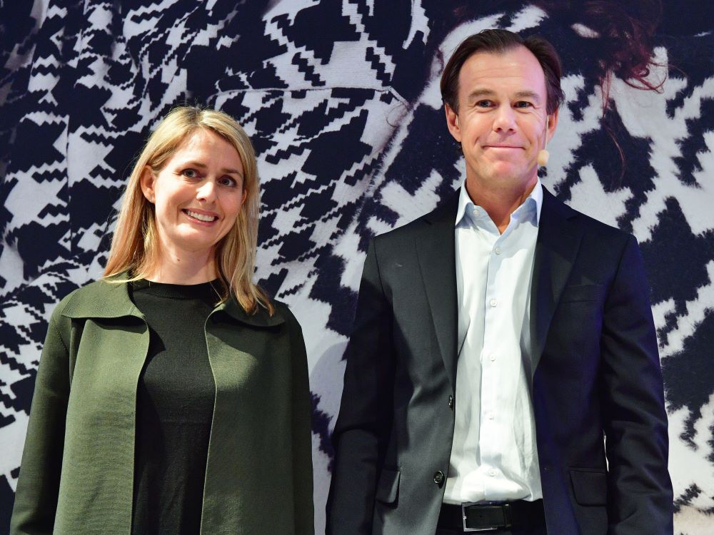 Helena Helmersson, new H&M CEO, and Karl Johan Persson, H&M chairman.