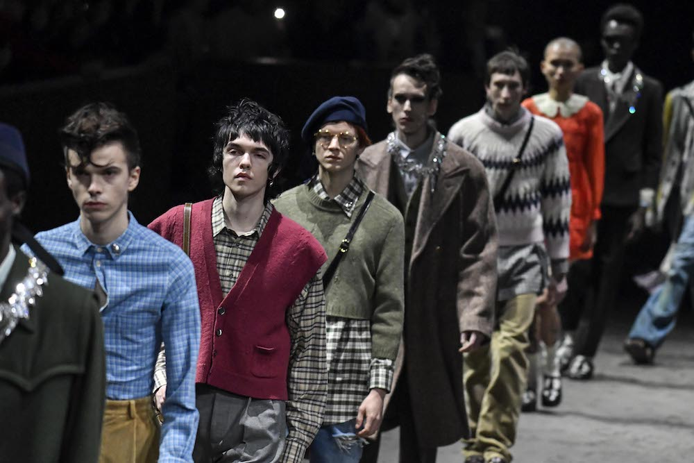 From Emporio Armani to Gucci, designers at Milan Fashion Week Men's leave streetwear behind and embrace retro prints and silhouettes.