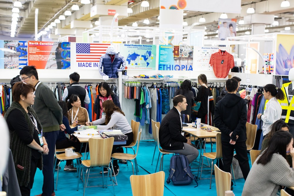 Manufacturers from Ethiopia exhibit at Texworld USA, January 2020.