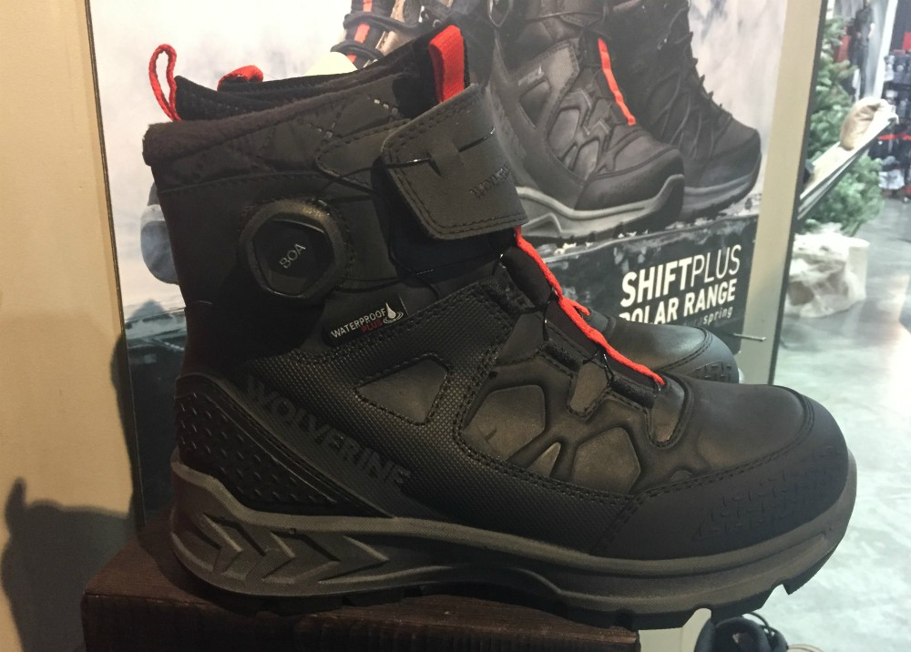 Wolverine's ShiftPlus Polar Range Boa boot drops in September. At Outdoor Retailer's Winter Market, footwear brands showed their most advanced performance features for trails, hiking and messy weather.