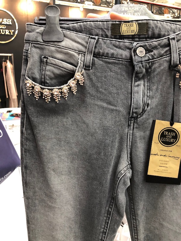 Pure London was home to embellished denim.