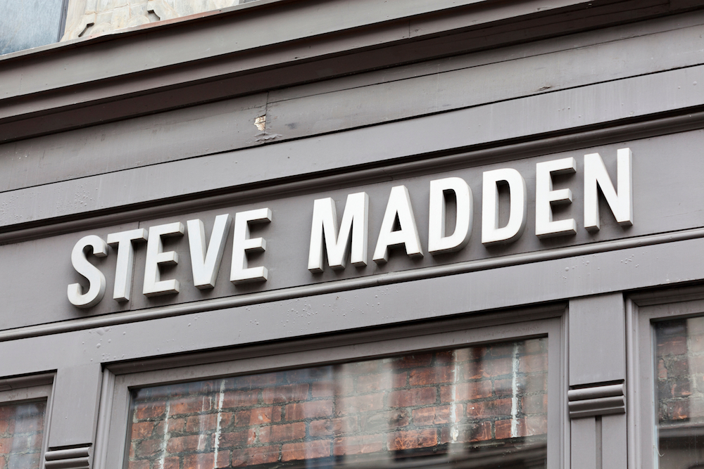 Steve Madden's guidance for FY20 was lower than the year before as a result of headwinds related to coronavirus supply problems and the termination of Kate Spade's footwear license