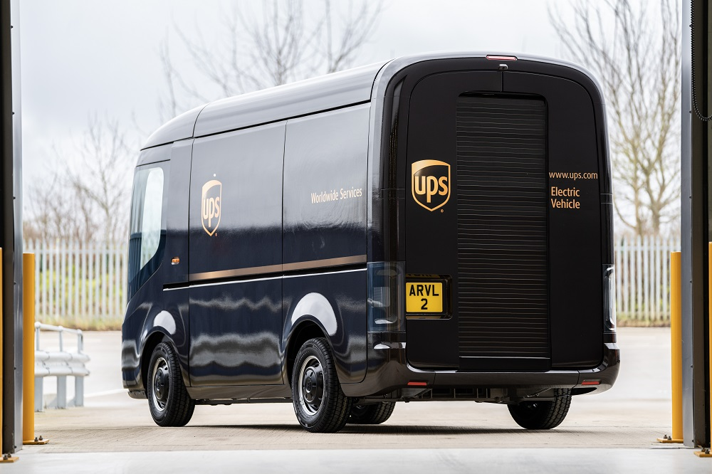 UPS has taken a minority stake in Arrival, which makes electric vehicle platforms and vehicles, and commited to purchase 10,000 EVs.