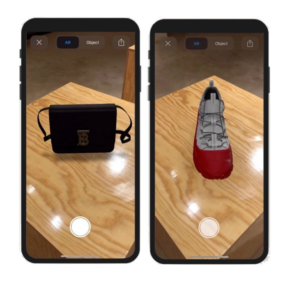 Burberry's newly released AR tool allows shoppers to visualize products in 3D via their mobile devices.