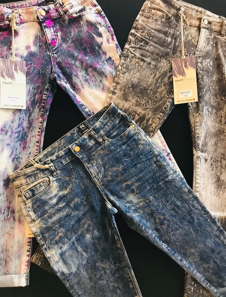 Denim suppliers use laser technology to make creative textures and dye effects displayed at Sourcing at Magic in Las Vegas.