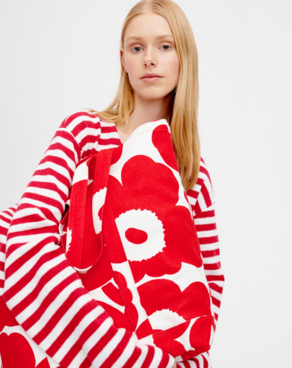 Finnish label Marimekko and material manufacturer Spinnova collaborated on sustainable fashion garments made with cellulosic fibers.