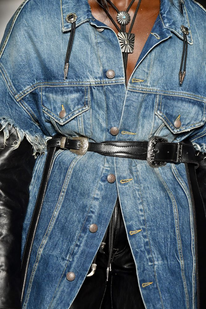 Designers at New York Fashion Week favored pared down denim for Fall/Winter 20-21.