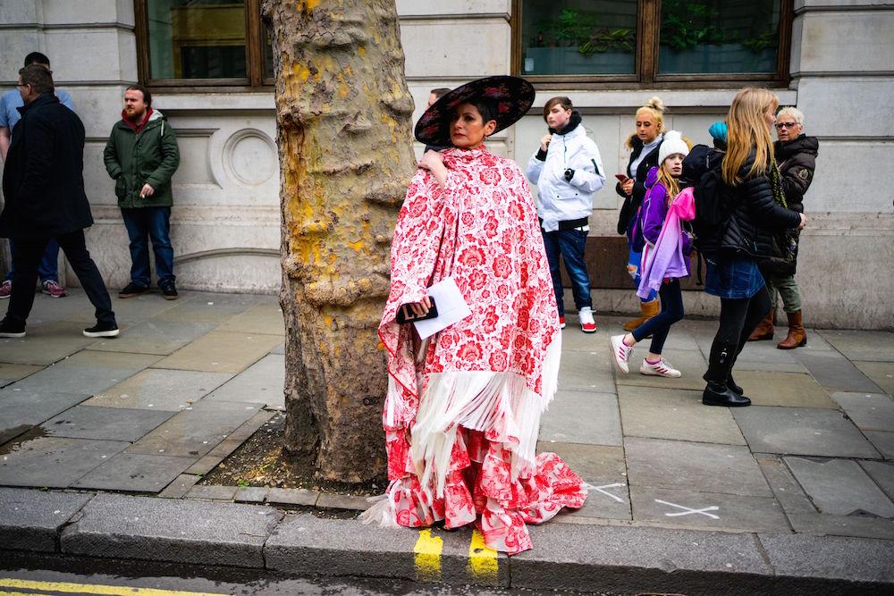 Voluminous Street Style at London Fashion Week