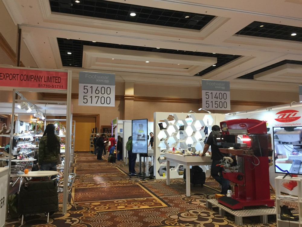 Exhibitors at Las Vegas' Sourcing show were anxious about the effects of the coronavirus.