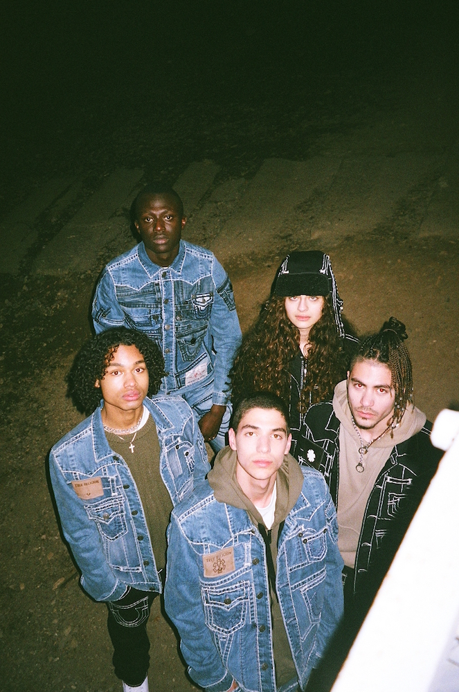 The new True Religion X Jaffa collection features jackets, jeans, hats, and more made of upcycled denim and designed by artist Jaffa Saba.