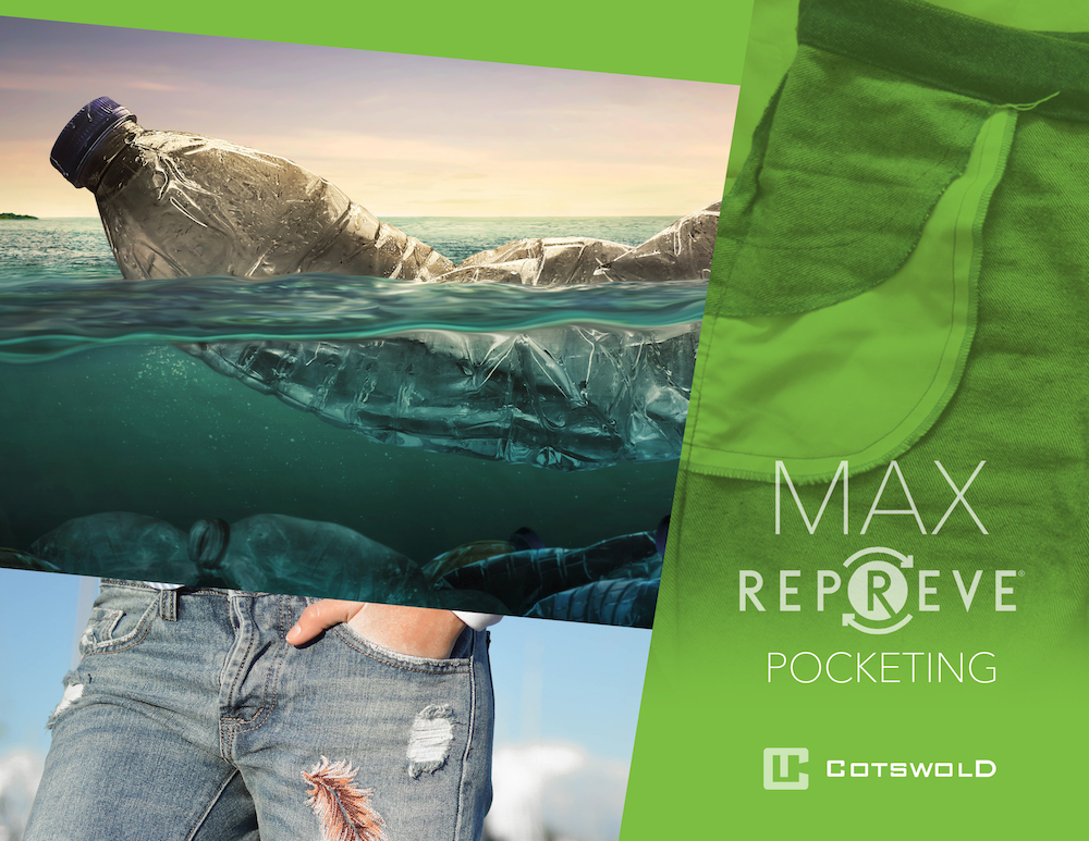 A new collection from Cotswold is putting Max Repreve recycled polyester pocket linings front and center in the push for sustainability.