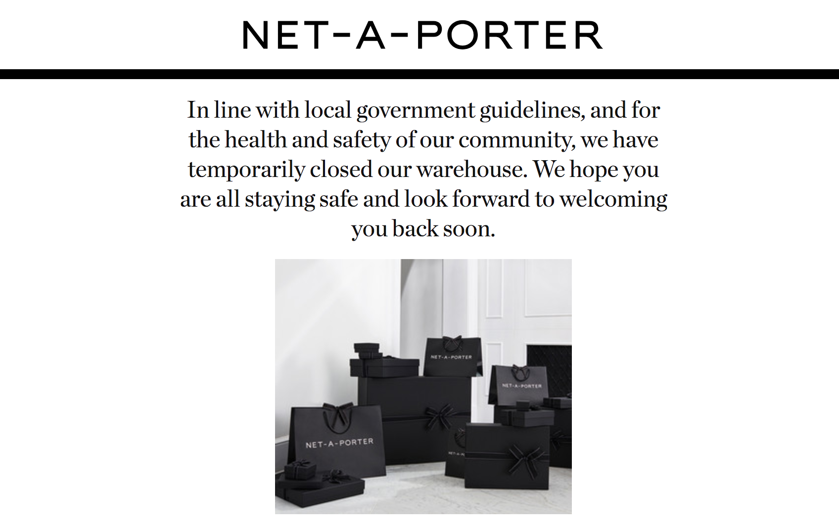 Net-a-Porter US website homepage