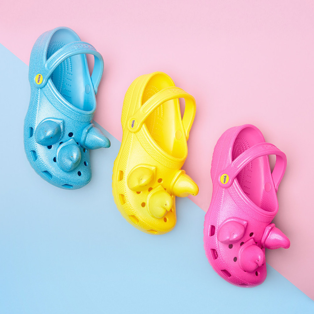 Crocs and Easter-favorite Peeps marshmallow candy have released a new limited-edition collection of clogs in time for the Easter holiday.