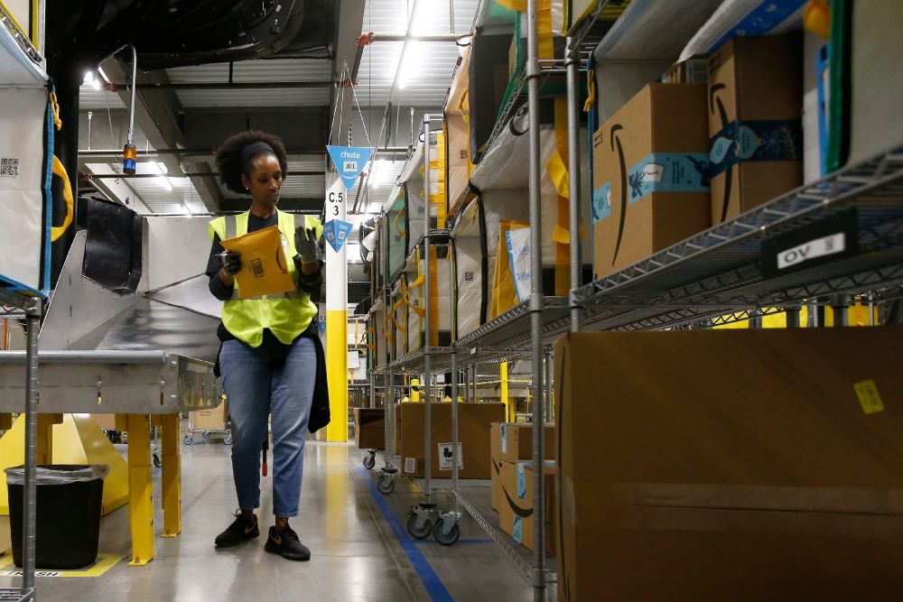 To meet a surge in pandemic-driven demand, Amazon is hiring for 100,000 full- and part-time jobs and bumping hourly pay by $2 through April.