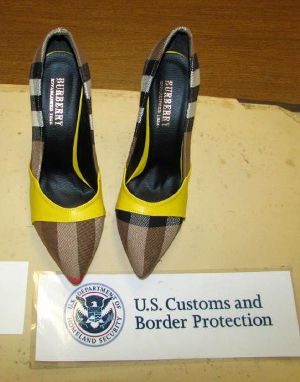 CBP seized a shipment of counterfeit goods with designer brands while inspecting express delivery parcels near Philadelphia Airport.