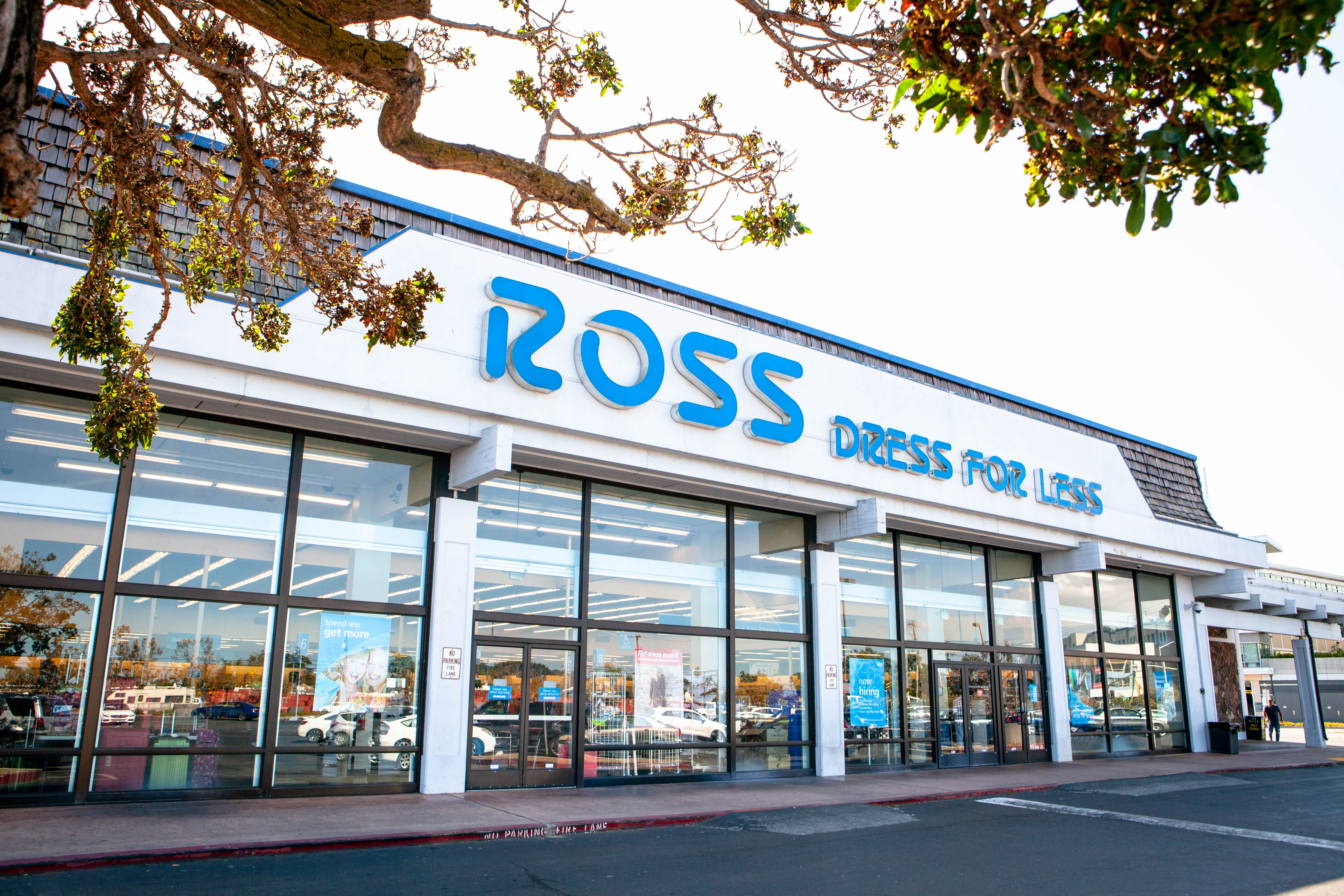 Ross store entrance and logo. Ross Stores is an American chain of off-price department stores.